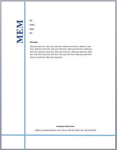 Staff Memo Template – Microsoft Word Templates