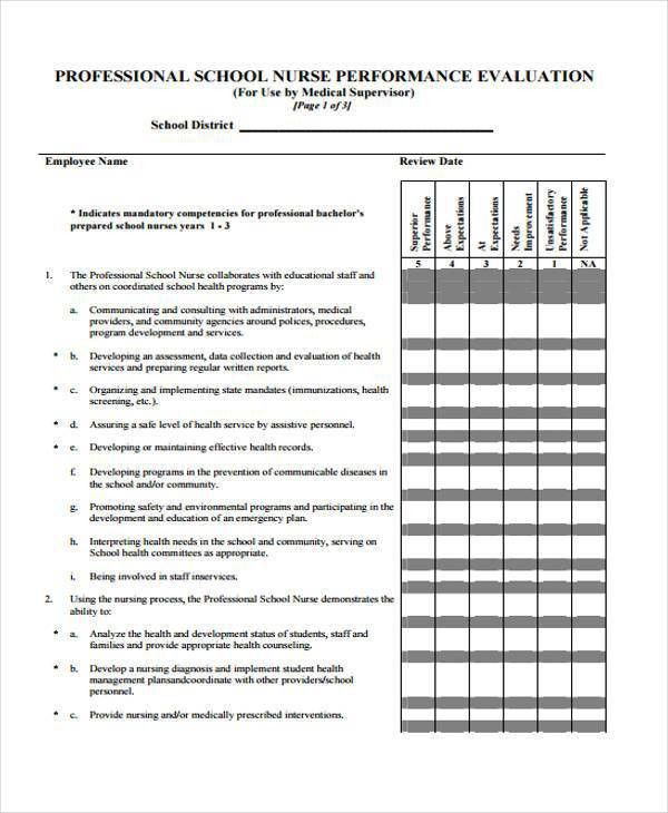 7+ Nurse Evaluation Form Samples - Free Sample, Example Format ...