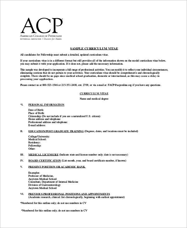 Sample CV - 19+ Documents in PDF