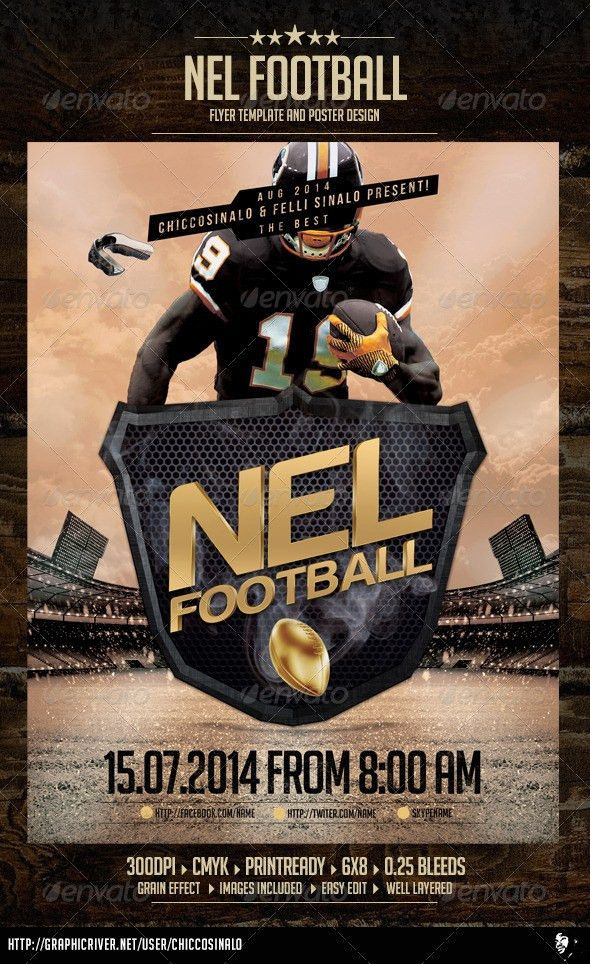 Nel Football Flyer Template by chiccosinalo   GraphicRiver