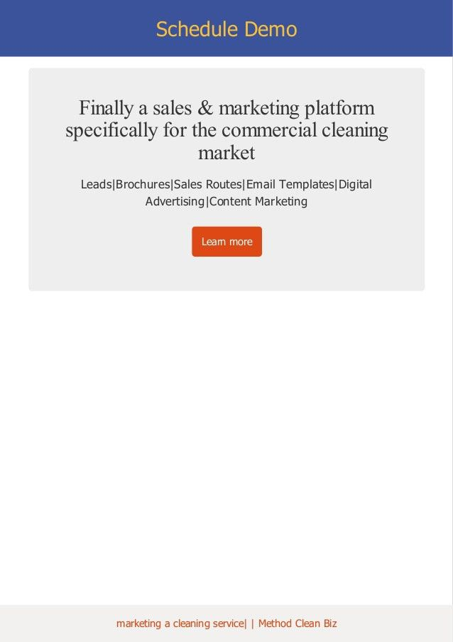 E book Marketing A Cleaning Service, geographic fencing