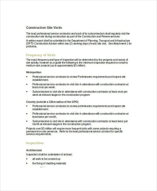 Report On Construction Site Visit - Best Construction 2017