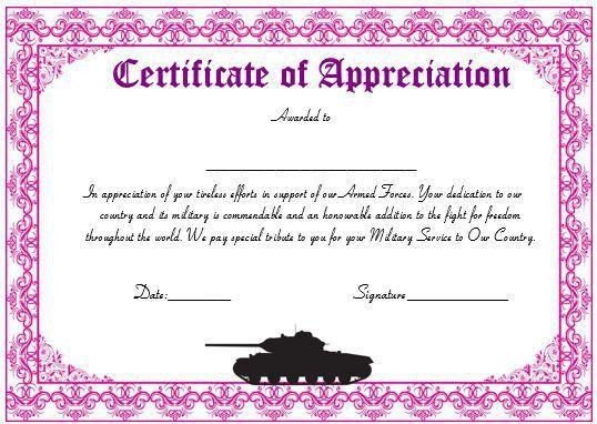 Certificate of appreciation examples 30 free certificate of 20 professional army certificate of appreciation templates yadclub