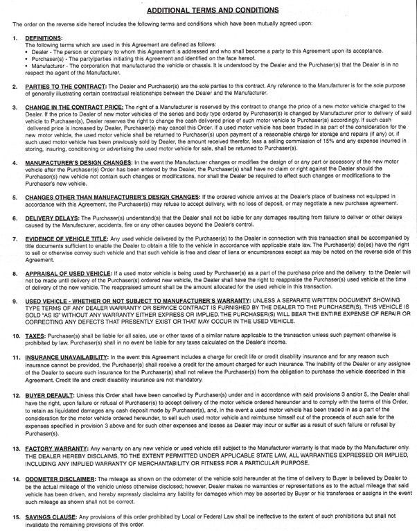Purchase Agreement Forms | Dodson Group