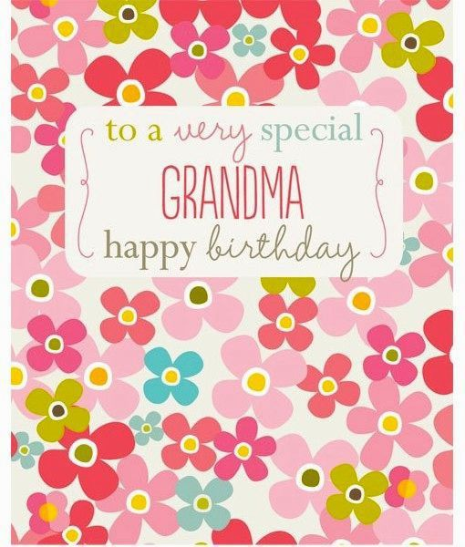 Modern Grandma Birthday Card Plan | Best Birthday Quotes | Wishes ...