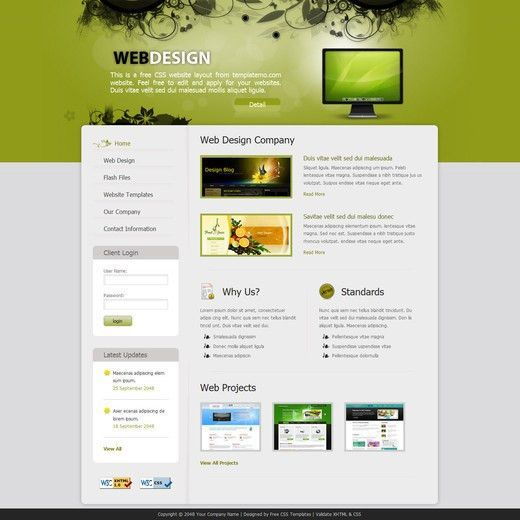 50 Free CSS/(X)HTML Templates - noupe
