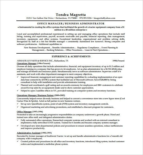 Executive Resume Word. Executive Resume Templates For A Resume ...