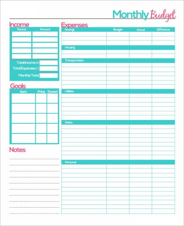 Monthly Budget Template - 10+ Download Free Documents in PDF ...