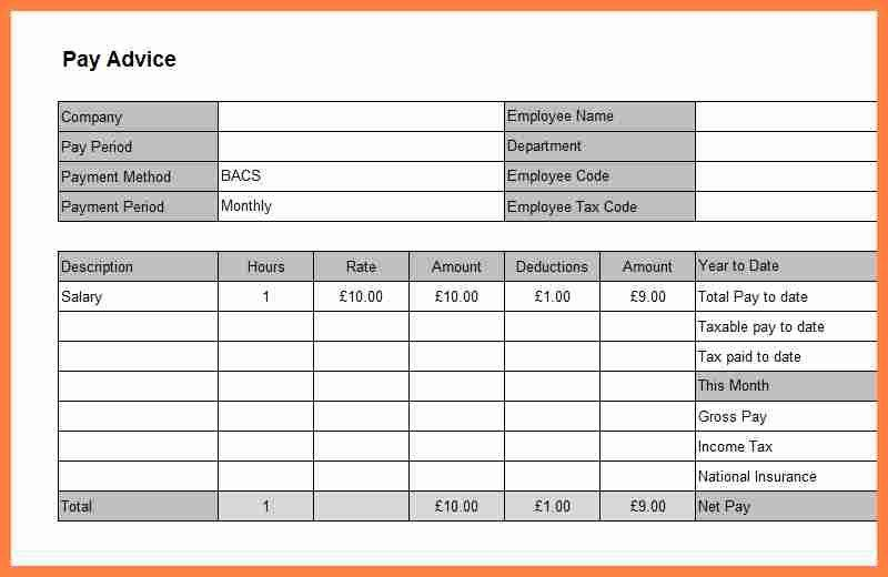 Format Of A Payslip, 6+ free sample of payslip format salary slip ...