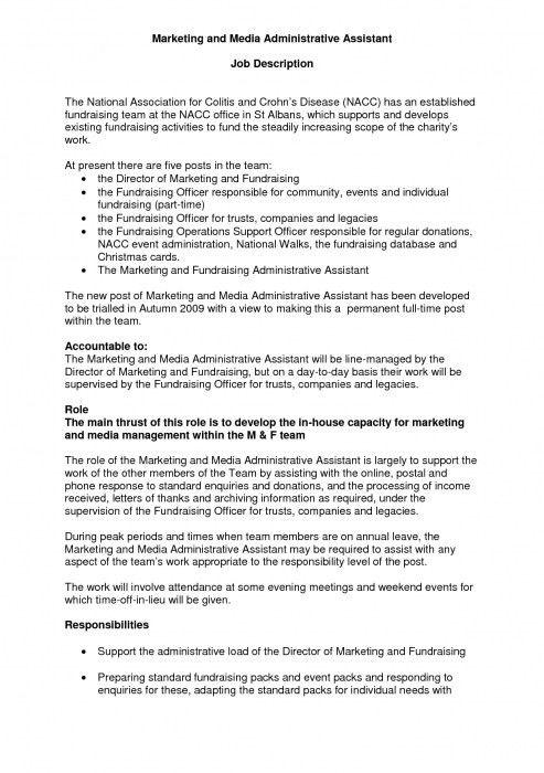 Incredible Administrative Assistant Job Duties For Resume | Resume ...