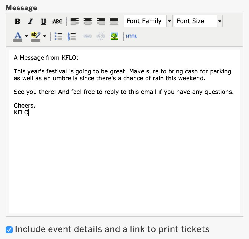 How to email your attendees through Eventbrite | Eventbrite Help ...