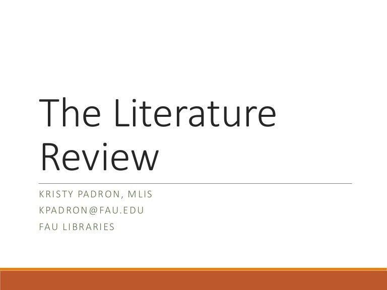 Nursing literature review examples