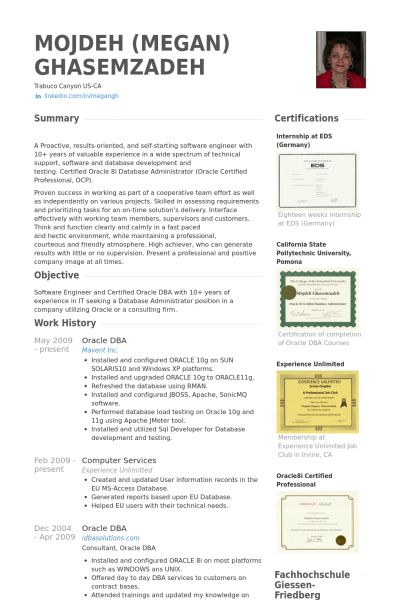 Download Database Administration Sample Resume ...