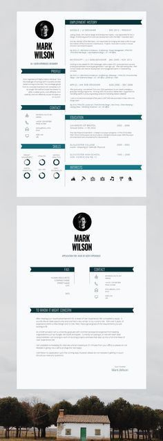Elegant resume template. Instant download, for use with Microsoft ...