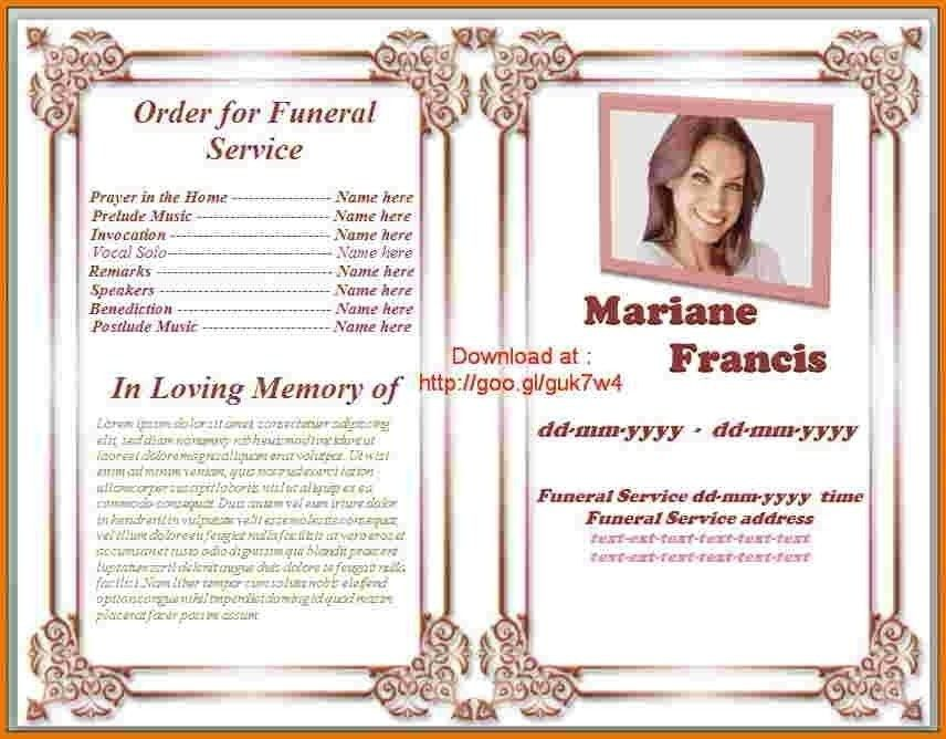 Free Printable Funeral Program Template | semarmesem.net