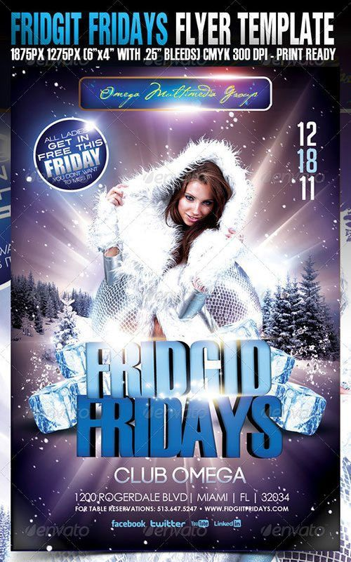 Top 10 Best Winter Ice PSD Flyer Templates - Download for Photoshop