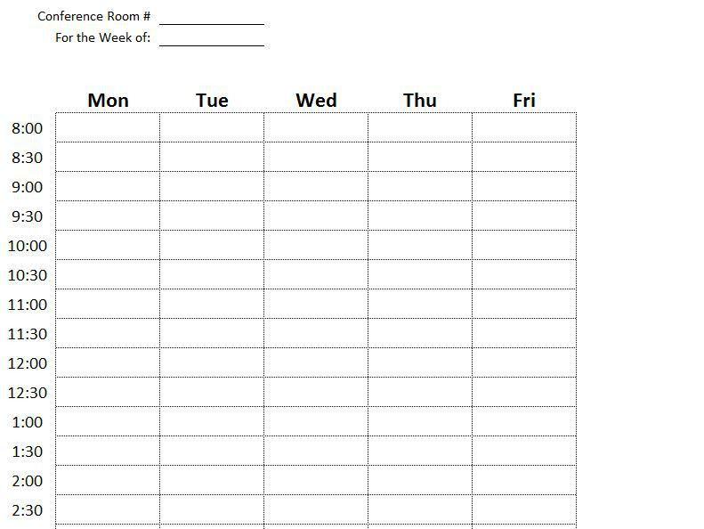Conference Room Scheduling Template | Conference Room Control ...