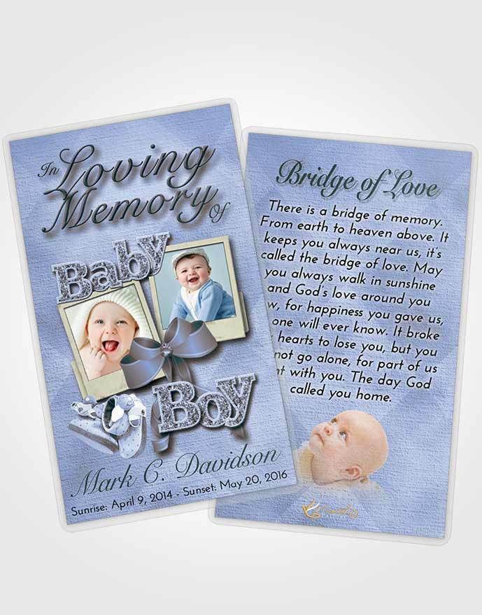 Prayer Card Template Coral Reef Baby Boy
