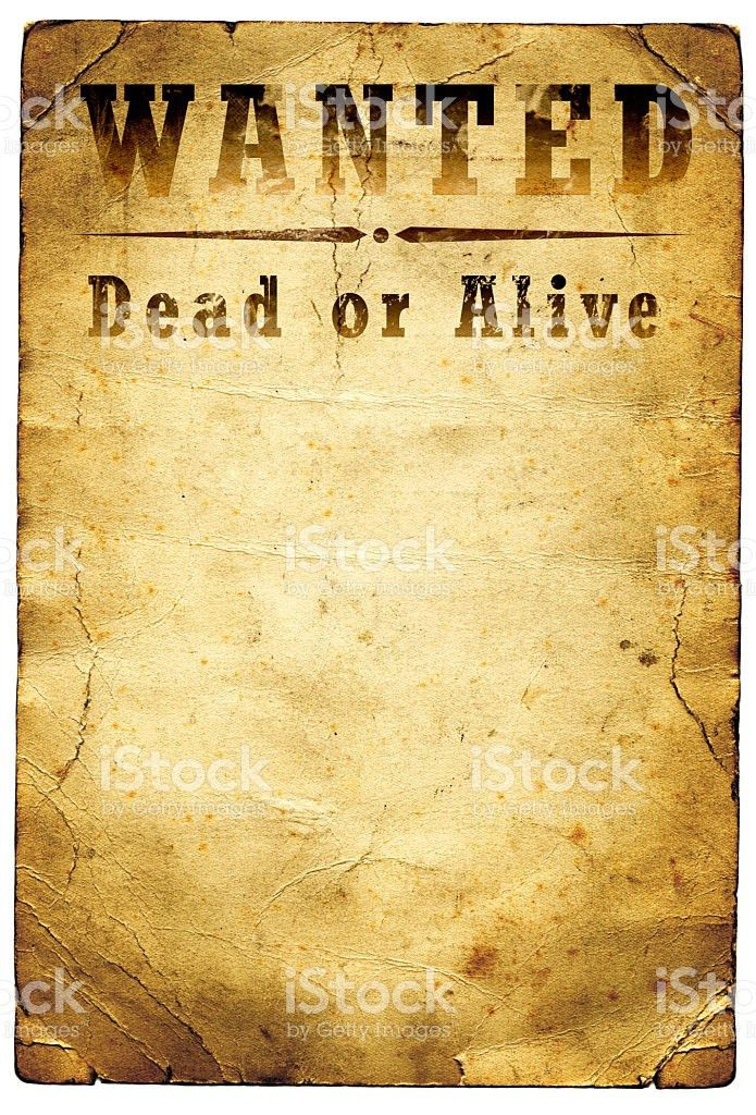 Wanted Poster Wild West stock photo 174680563 | iStock