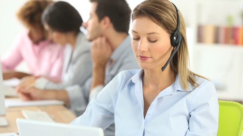 Woman On The Phone In Creative Office Stock Footage Video 4227397 ...