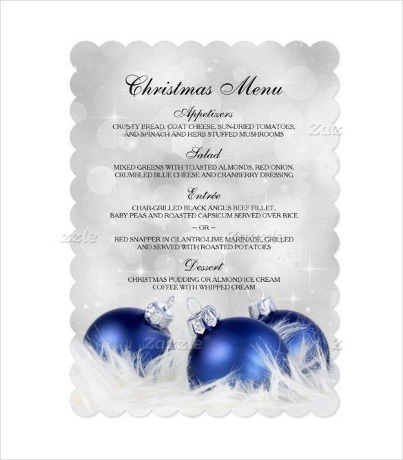 28+ Free Holiday Menu Templates   Christmas Eve Menu Template Psd ...