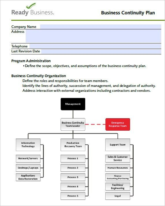 7 Free Business Continuity Plan Templates - Excel PDF Formats