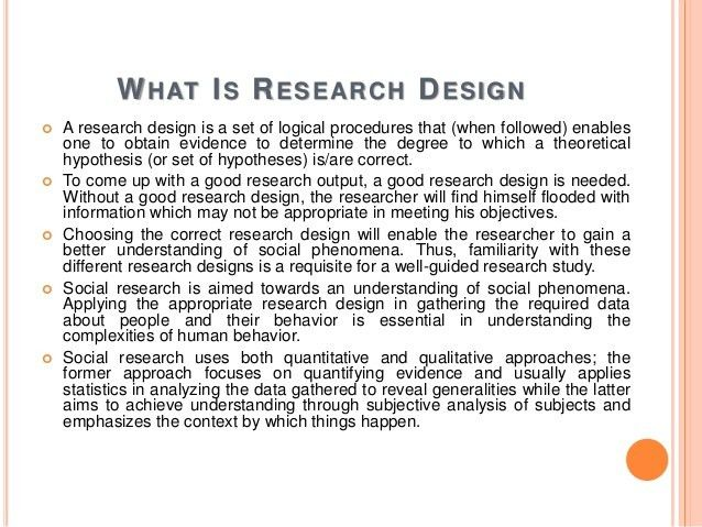 Types of Research Design for Social Sciences