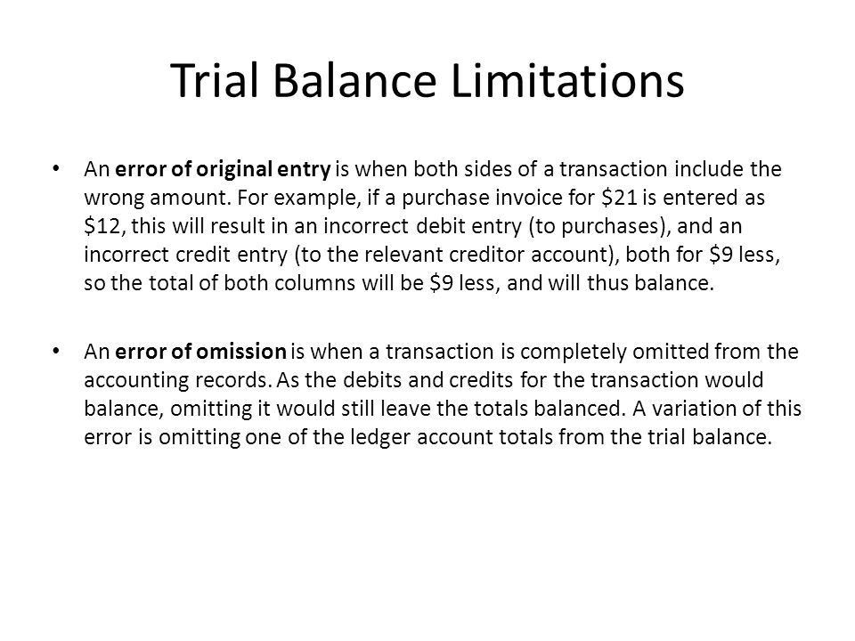 Trial Balance A trial balance is a list of all the nominal ledger ...