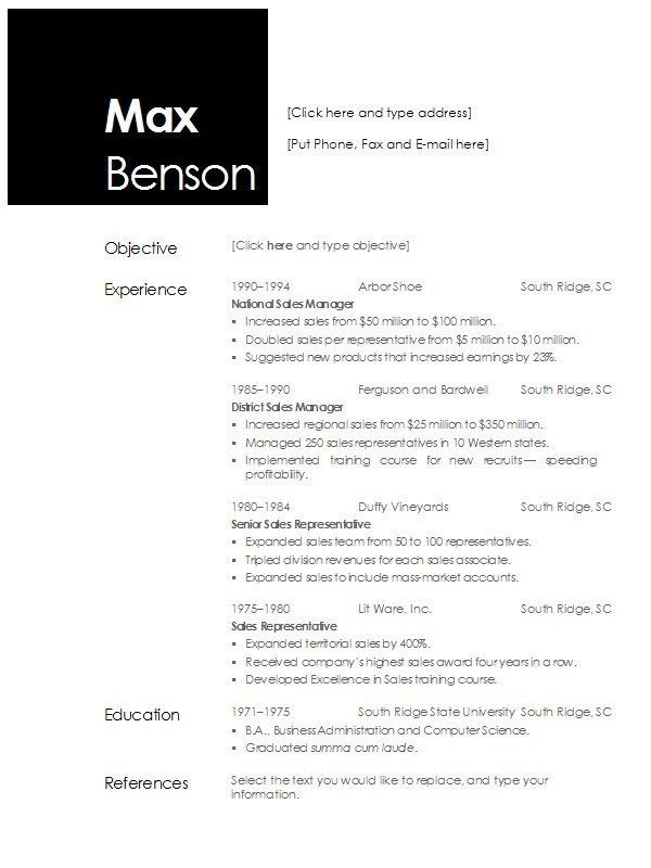 Resume Examples. resume templates open office free download star ...