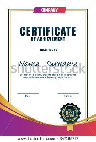 Certificate Template Diploma Layout Vector Stock Vector 585992237 ...
