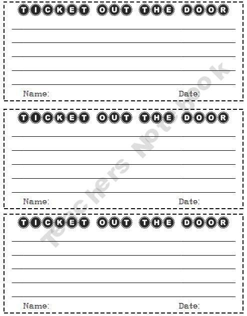 122 best Classroom Exit Tickets, Objectives, & Rubric Ideas images ...