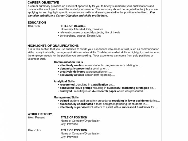 Skills For Resume - CV Resume Ideas