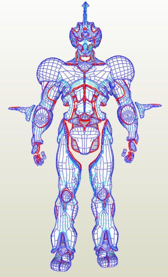 Guyver armor suit templates for EVA Foam build