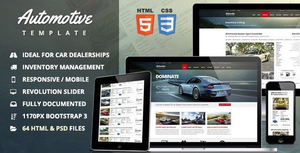 Automotive Car Dealership & Business HTML Template by themesuite ...