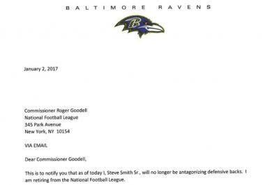 Steve Smith takes shot at NFL DBs in retirement letter - UPI.com