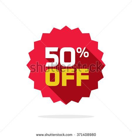 Sale Tag Badge Template 50 Off Stock Illustration 371408980 ...