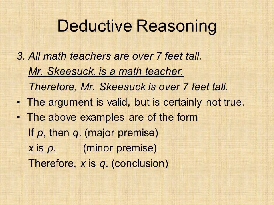 DEDUCTIVE vs. INDUCTIVE REASONING - ppt download