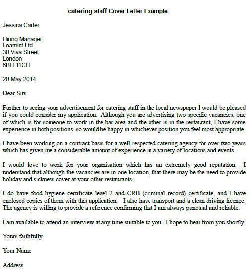 Staff Adjuster Cover Letter