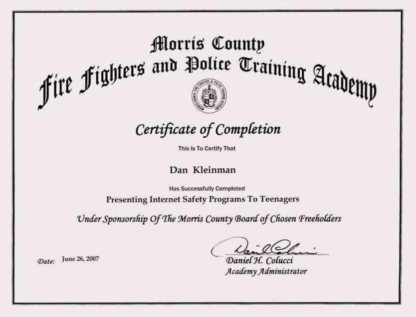 Fire Training Certificate Sample | Certificate234