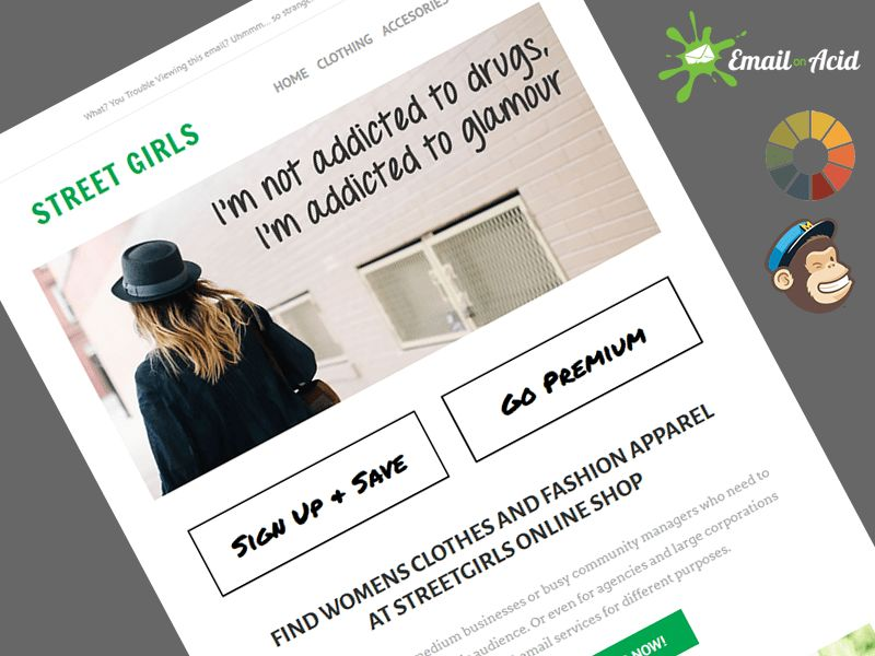 StreetGirls Fashion Responsive Email Sales Template (MailChimp)