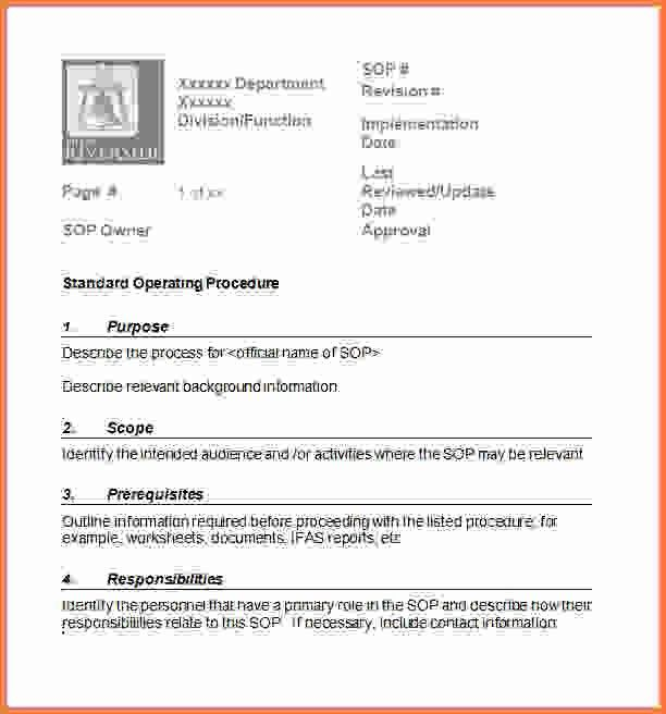 Standard Operating Procedure Template Word.sop Template2 Small.gif ...