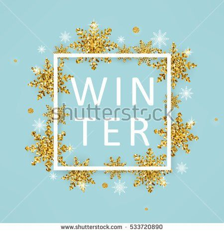 Vector Illustration Winter Poster Template White Stock Vector ...