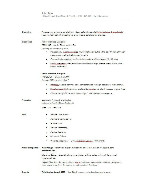 Simple Resume - Easiest Online Resume Builder