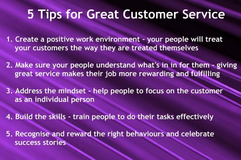 Ideas to improve your customer service