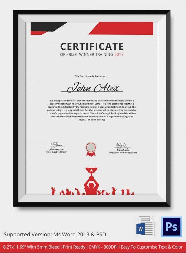 Award Certificate Template - 25+ Word, PDF, PSD Format Download ...