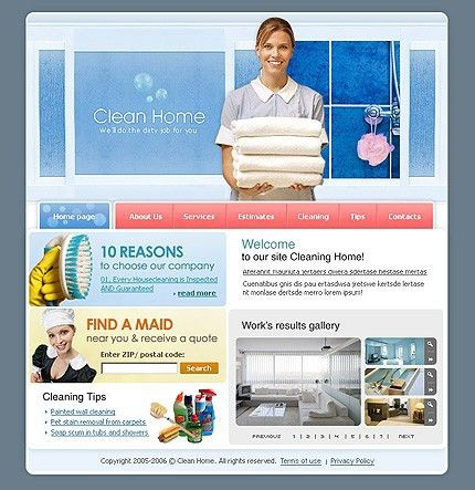 Website Template #15384 Cleaning Company Services Custom Website ...