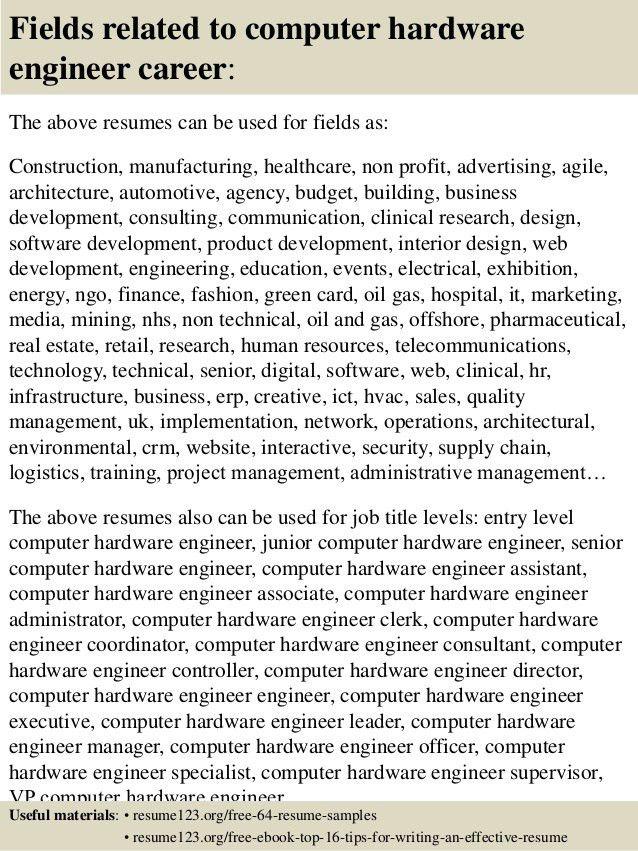 Download Hardware Engineer Sample Resume | haadyaooverbayresort.com