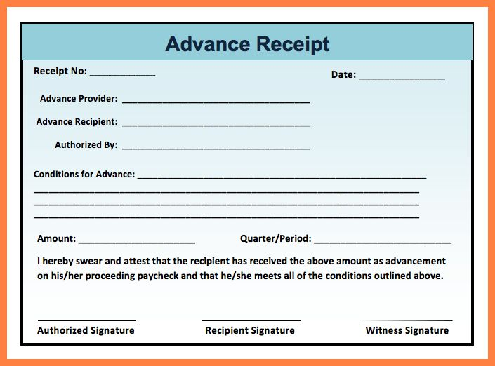 Receiving Slip Format - Template Examples