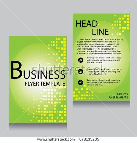 Brochure Flyer Design Layout Template Front Stock Vector 506216080 ...