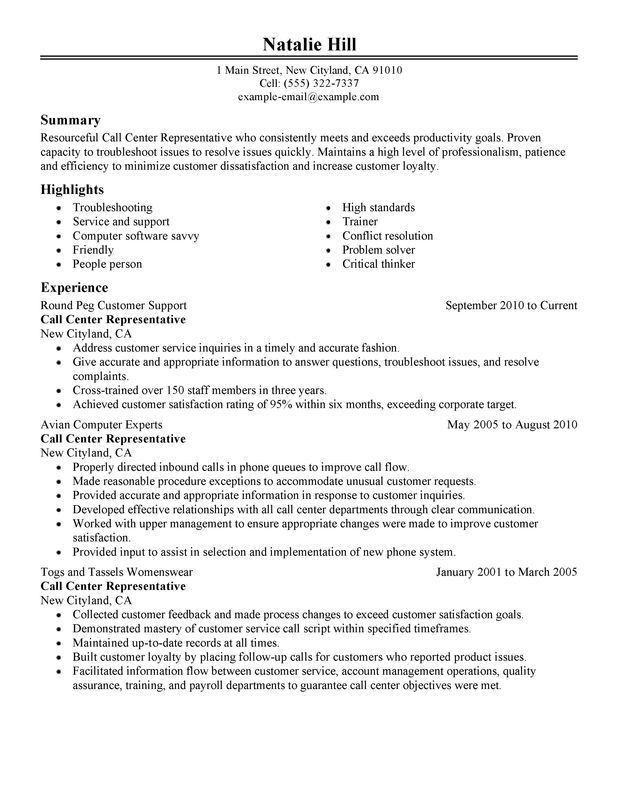 bpo resume template free samples examples format download skill ...